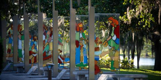 A shot of AHU's Garden of Miracles art installation taken by photographer, Paul Martin